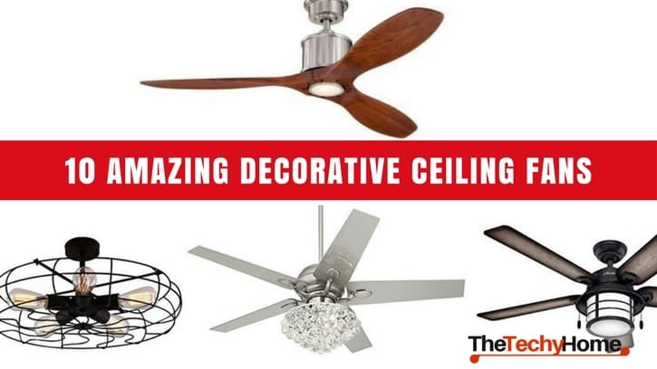10 amazing decorative ceiling fans thetechyhome 10 amazing decorative ceiling fans hd min aloadofball Gallery