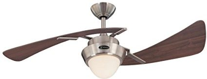 Westinghouse – 7214100 Harmony 48-Inch Brushed Nickel Indoor Ceiling Fan, Light Kit with Opal Frosted Glass