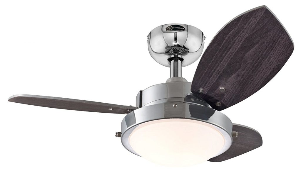 Westinghouse 7876300 Wengue Chrome 30 Ceiling Fan with Ligh