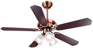 Yescom 48 5 Blades Ceiling Fan with Light Kit Antique Copper Reversible Remote Contro