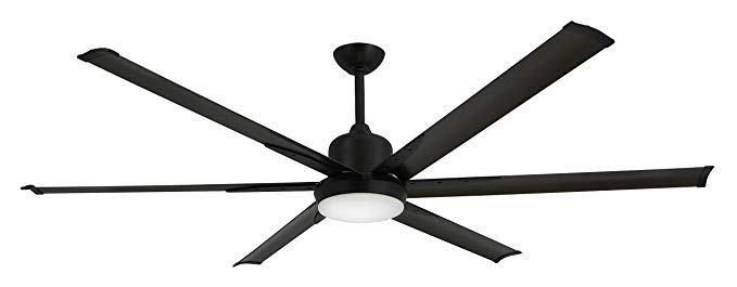 TroposAir-Titan-Oil-Rubbed-Bronze-Large-Industrial-Ceiling-Fan-with-DC-Motor,-72-Extruded-Aluminum-Blades,-Integrated-Light-and-Remote