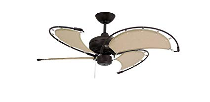 TroposAir-Voyage-Oil-Rubbed-Bronze-IndoorOutdoor-Ceiling-Fan-with-Khaki-Fabric-Blade