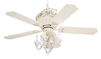 52 Casa Chic Rubbed White luxury Ceiling Fan with Lights