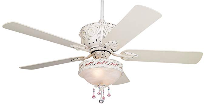 Casa Deville Antique White Luxury Ceiling Fan