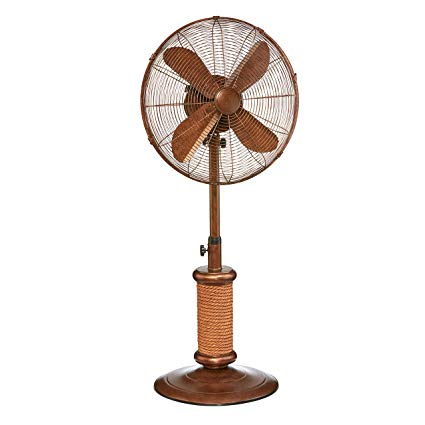 DecoBREEZE-Adjustable-Height-Oscillating-Outdoor-Pedestal-Fan,-18-In,-Nautica
