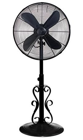 Decobreeze Adjule Height Oscillating Outdoor Pedestal Fan