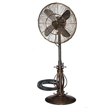Dynamic Collections Oscillating Fan with Misting Kit for Outdoor Use