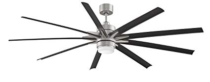 Fanimation Odyn Ceiling Fan with LED Light Kit and Remote, Wet rated