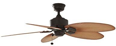 Hampton Bay Palm Leaf Blades Ceiling Fan Thetechyhome