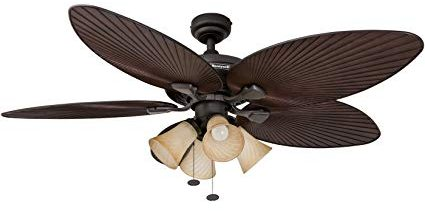 Honeywell Palm Island Tropical Bronze Ceiling Fan