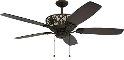 TroposAir Excalibur 60 Rubbed Bronze Ceiling Fan with Uplight