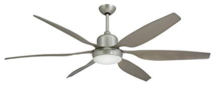 TroposAir-Titan-Brushed-Nickel-Industrial-Ceiling-Fan-with-66-Inch-Contoured-ABS-Blades,-Integrated-Light-and-Remote