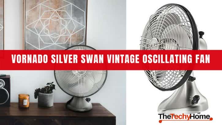 Vornado Silver Swan Vintage Oscillating Fan