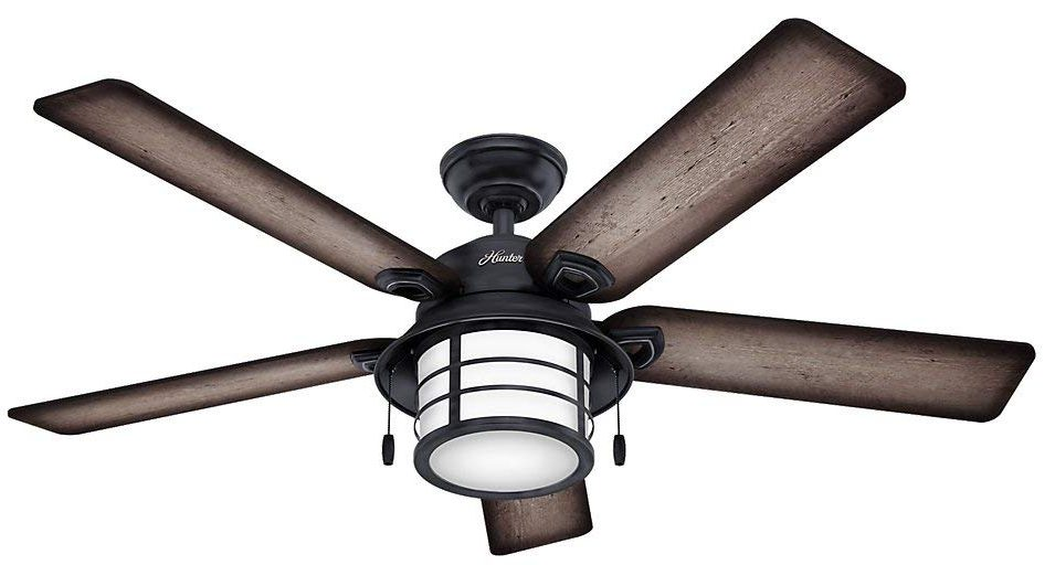Hunter 59135 Key Biscayne Weathered Zinc Ceiling Fan