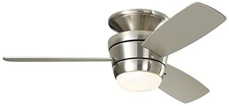 Harbor Breeze Mazon 44-in Brushed Nickel Flush Mount