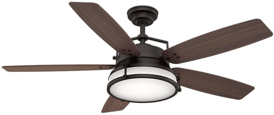 Casablanca Indoor Outdoor Ceiling Fan with LED Light and wall control